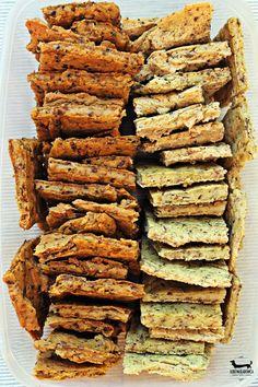 chlebki jaglane Dziki Naśladowca Yummy Healthy Snacks, Healthy Cookies, Yummy Food, Gluten Free Recipes, Vegan Recipes, Snack Recipes, Cooking Recipes, Quiche, Bread Alternatives