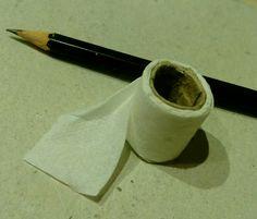 Miniature toilet paper!