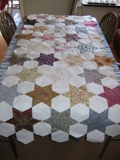 English Paper Piecing Patchwork Tutorial
