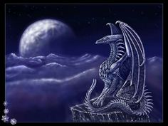 SciFi and Fantasy Art Ice Dragon Wallpaper by Carrie Hanscom Dragon Moon, Ice Dragon, Dragon Art, Medieval, Creature Picture, Dragon Tales, Flame Art, Fanart, Dragon's Lair