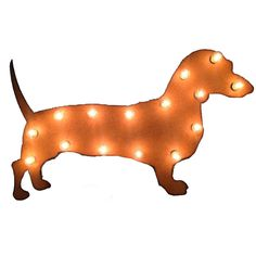 """Who doesn't love the wiener dog? Give one to a loyal supporter of the breed or hang one in your newly opened doggie daycare digs! Indoor use only. brbrliDimensions: Approx. 21""""w x 13""""hliThe s..."""