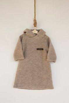 INVIERNO venta FINAL/Merino de lana bebé vestido / vestido de lana con capucha / Eskimosa vestido/404FW15