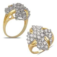 Ebay NissoniJewelry presents - Ladies 2CT Diamond Cluster Ring in 14k Yellow Gold    Model Number:CL2189P-Y424    http://www.ebay.com/itm/Ladies-2CT-Diamond-Cluster-Ring-in-14k-Yellow-Gold/321612161307