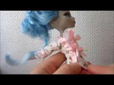 How to Sew Marie Antoinette dress for Monster High doll - Free pattern . Nuken rokokoopuku - YouTube