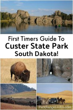 Things to do Custer State Park in South Dakota include hiking exploring Sylvan Lake camping staying in a cabin or one of the several park lodges taking the wildlife loop and driving the needles highway via ParkRangerJohn South Dakota Vacation, South Dakota Travel, North Dakota, Custer South Dakota, Rapid City South Dakota, Sturgis South Dakota, Deadwood South Dakota, Bad Lands South Dakota, Sioux Falls South Dakota