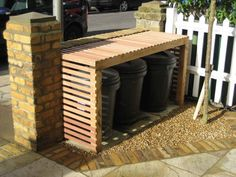 Image result for discrete bins outside house