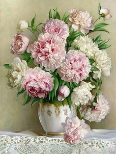 floralart.quenalbertini: Bouquet of flowers - Artist unknown