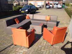outdoor meubel oranje  Op maat gemaakte #meubels by www.outdoorloungekussens.nl