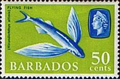 Barbados 1965 QE II Marine Life Four-winged Flyingfish  SG 333 Scott 278 Fine Mint Other West Indies and British Commonwealth Stamps HERE