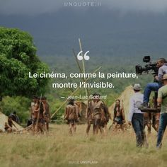 "Jean-Luc Godard ""Le cinéma, comme la peinture, montre l'invisible."" Photo by David Condrey / Unsplash"