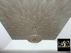 Stunning Ornamental Ceiling by M&M Bender   Aged Gold Metallic Plaster with the Pattern in Silver Fox Metallic Plaster   Modern Masters Cafe Blog