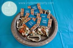Rock Climbing Party Candy Bag Toppers Invite Me To Party: Rock Climbing Party