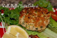 Weight Loss Recipe: Tuna Patties With Lemon Dill Sauce ~ Helthy Dinner Reciepes