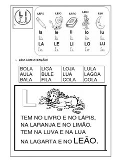 livro alfabetico silabas simples 16 Learn Brazilian Portuguese, Portuguese Lessons, Portuguese Language, Vocabulary, Mascara, Education, Learning, Letter Activities, Preschool Literacy Activities