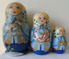 Vintage Matryoshka Russian Nesting Doll Rooster