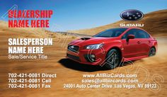 2015 Subaru Legacy Business Card ID# 21350
