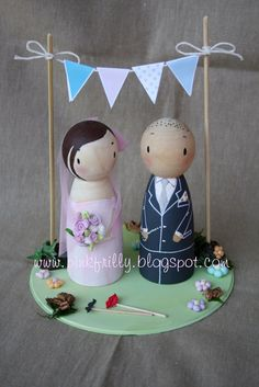Pink Frilly: Cake topper legno e bunting
