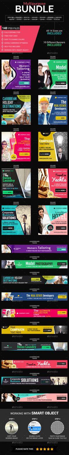 Multi purpose Banners Bundle Templates PSD. Download here: http://graphicriver.net/item/multi-purpose-banners-bundle/16400098?ref=ksioks