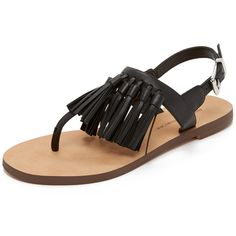 56d3b15c751e6f Rebecca Minkoff Erin Fringe Sandals (467.705 COP) ❤ liked on Polyvore  featuring shoes