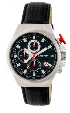 Morphic Quartz Series Gold And Black Leather Watch e5f3b3ce46d