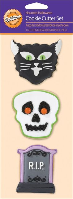 Wilton Cookie Cutter Set, Haunted Halloween, 3-Pack >> To view further, visit : Baking Accessories