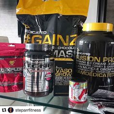 #Repost @steparrfitness with @repostapp  Latest supplement stack courtesy of the lads at @tnutrition. Got a hell of a lot for my money so pretty chuffed. Dedicated GAINZ Fusion Pro Vaso Grow Scivation Xtend BCAA BSN NO XPLODE and loads of ProSupps samples.  #tnutrition #supplements #dedicated #bsn #prosupps #scivation #protein #bcaa #preworkout #iamdedicated #gymlife #fitforlife #fitspiration #fitness #fitspo #fitfam #physique #motivation #exercise #lifestyle #healthspo #hardwork #dedication…