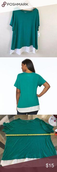 Plus size 2X Tunic shirt tail top msrp $30 Plus size 2X Tunic shirt tail top msrp $30 croft & barrow Tops Blouses
