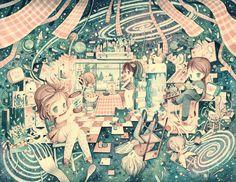 Cosmic Kitchen by XkY