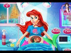 Juegos de La Sirenita:  Ariel y Su Recién Nacido Bebé