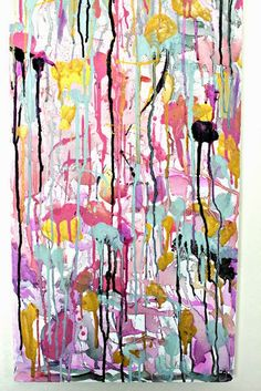 All of the pieces above were made by me and not because I fancy myself an artist, but because I needed wall space filled and didn't want to shell out tons on a painting while I looked for something permanent. Acrylic Painting Lessons, Drip Painting, Painting Techniques, Creative Wall Painting, Diy Wall Art, Splatter Art, Wall Paint Colors, Collaborative Art, Art Party