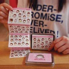 20pcs Korean stationery cute iron first series transparent sticker cartoon
