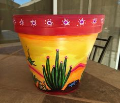 45 Ideas Painting Flower Pots Mexican For 2019 Flower Pot Art, Flower Pot Design, Flower Pot Crafts, Clay Flower Pots, Clay Pot Projects, Clay Pot Crafts, Painted Plant Pots, Painted Flower Pots, Backyard Creations