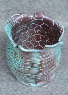 vaso. raku à lenha