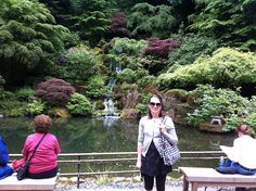 Emily in the Portland Japanese Garden Portland Japanese Garden