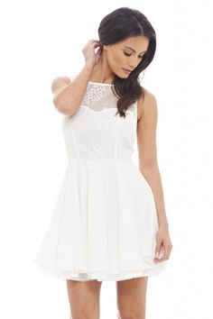 SNOW WHITE LACE DRESS