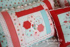 Hexie pillow by Tasha Noel using The Simple Life line