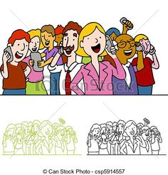 crowd of people graphic shopping with phone - Google Search