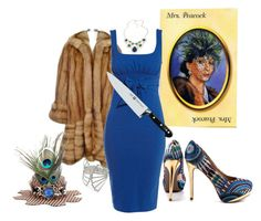 """Clue: Mrs Peacock"" by helsingmusique ❤ liked on Polyvore featuring Vesper Dresses, Zwilling J.A. Henckels, ZIGIgirl, Retrò and Roberta Chiarella"