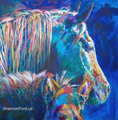 Horse Painting by Shannon Ford, an Artist from Alberta and British Columbia, Canada