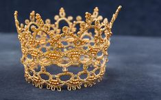 Baby Gold Crown Gold Crown Gold Lace Crown Tatting