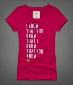 Camiseta Abercrombie Rosa AF7224