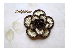 Tutorial How To Crochet Flower - Tutorial On Line Simple Crochet