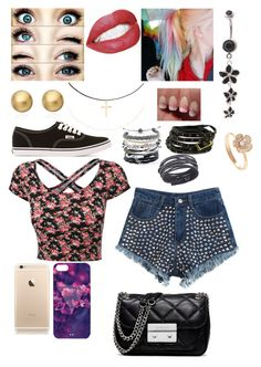 Untitled #65 by paige-jarvis on Polyvore featuring polyvore fashion style Chicnova Fashion Vans MICHAEL Michael Kors Carolina Glamour Collection Domo Beads Astley Clarke Swarovski Accessorize clothing