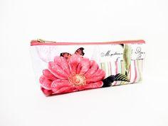Medium Zipper Pouch Cosmetic Bag Pencil Case by handjstarcreations