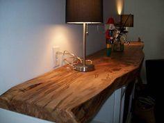 natural wood mantelpiece