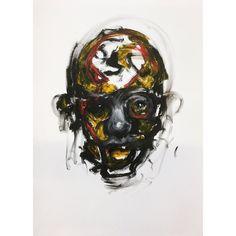 Oilbar on paper.  #oilpainting #oilpaint #people #war #charcoal #instaart #monochrome #monochromatic #blackandwhite #fineart #figurative #contemporaryart #expressive #painting #drawing #head #face #oilbar #colour by adamrichesart
