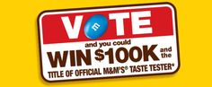 Win $100,000 and a Trip to New York from M&M's! | Sweepstakes For Days