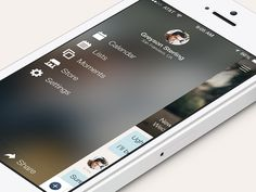 Couple App iOS 7 Menu by Andres Jasso