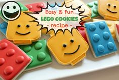 Easy Lego Cookies Recipe. Impress all your kid's friends by making these sweet…