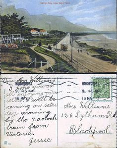Vintage Postcards, Vintage Photos, Cape Town South Africa, Most Beautiful Cities, Antique Maps, Historical Photos, Old Photos, Camping, Post Card